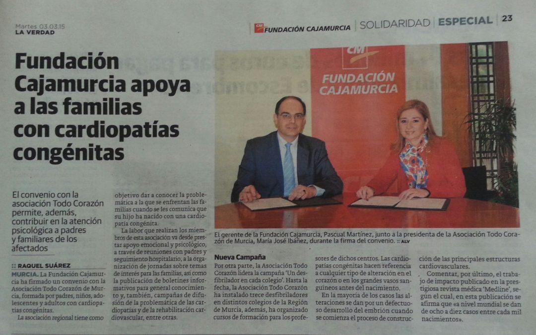 FIRMA CONVENIO CON LA FUNDACIÓN CAJAMURCIA
